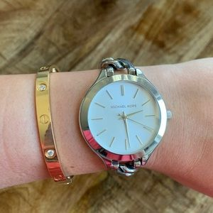 Michael Kors Silver Chain Watch